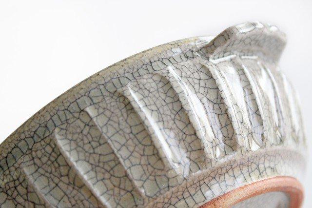 耳付鉢 墨入貫入 陶器 はなクラフト 画像3