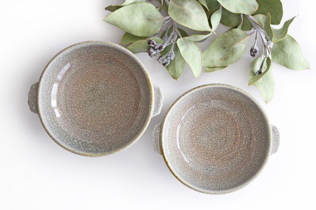耳付鉢 墨入貫入 陶器 はなクラフト 画像6