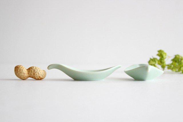 白山陶器 はしおき 木の葉 浅緑 磁器 波佐見焼 画像2