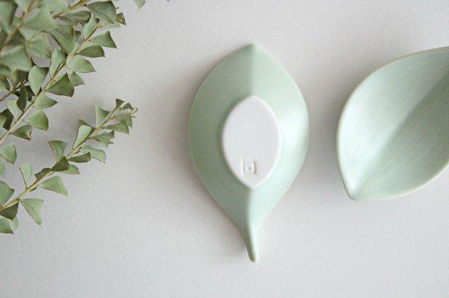 白山陶器 はしおき 木の葉 浅緑 磁器 波佐見焼 画像3