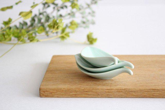 白山陶器 はしおき 木の葉 浅緑 磁器 波佐見焼 画像5