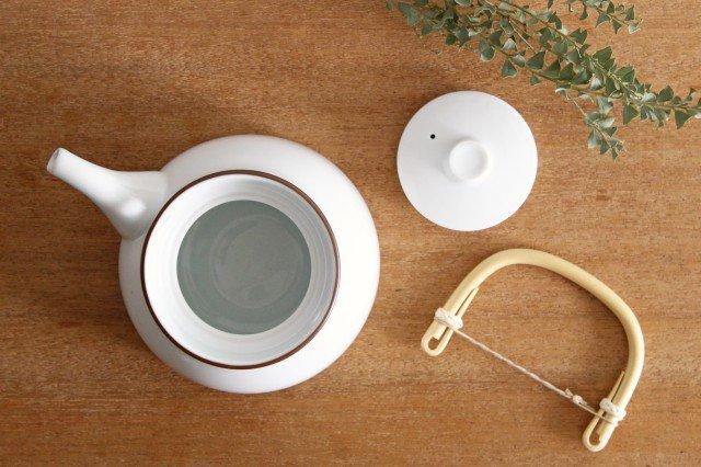 白山陶器 ベーシック 土瓶 白マット 磁器 波佐見焼 画像2