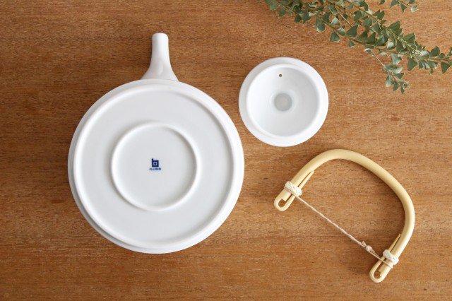 白山陶器 ベーシック 土瓶 白マット 磁器 波佐見焼 画像4