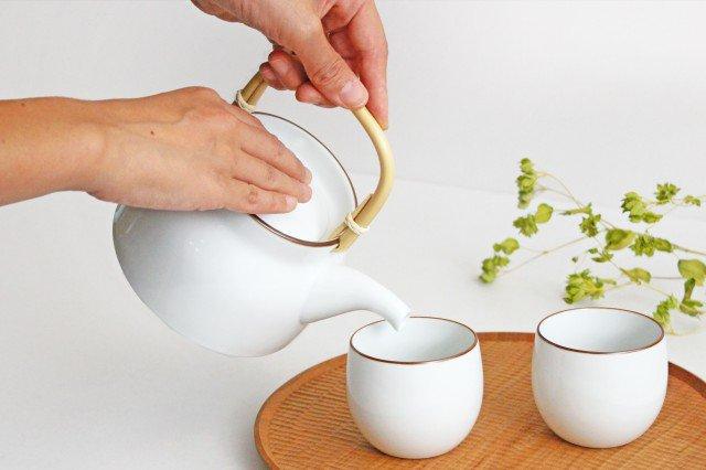 白山陶器 ベーシック 土瓶 白マット 磁器 波佐見焼 画像6