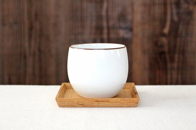 白山陶器 ベーシック 煎茶碗 白マット 磁器 波佐見焼