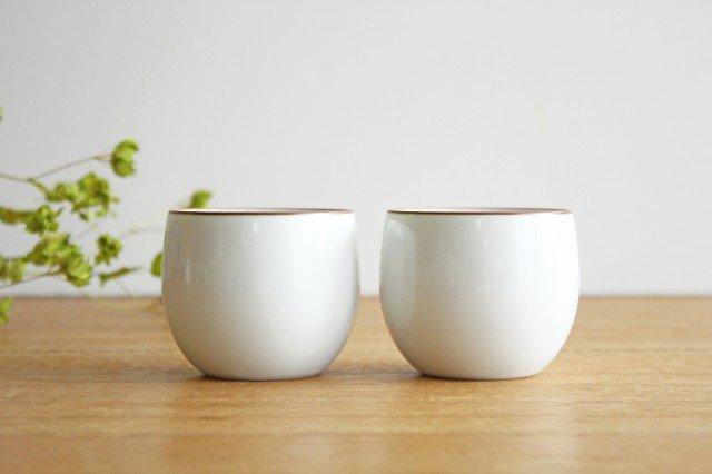 煎茶碗 ベーシック 白マット 磁器 白山陶器 波佐見焼 画像3