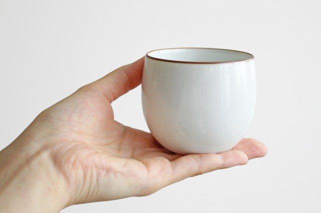 煎茶碗 ベーシック 白マット 磁器 白山陶器 波佐見焼 画像4