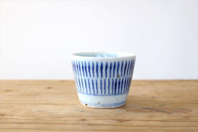 蕎麦猪口(ミニ) 呉須刷毛目 磁器 砥部焼 中田窯 画像2