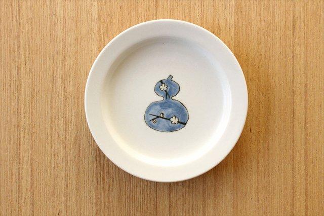砥部焼 豆皿 ひょうたん 磁器 すこし屋