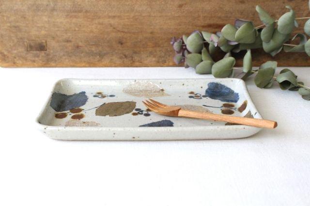 長板皿 特大 木の葉 半磁器 森陶房 砥部焼 画像3