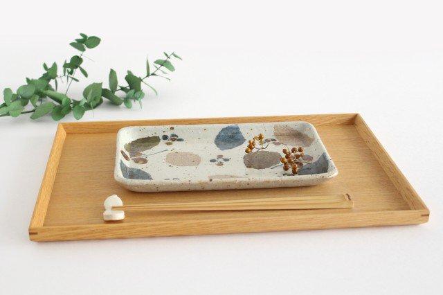 長板皿 特大 木の葉 半磁器 森陶房 砥部焼 画像4