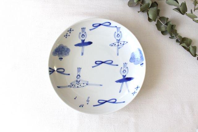 7寸皿 バレリーナ 磁器 森陶房 砥部焼