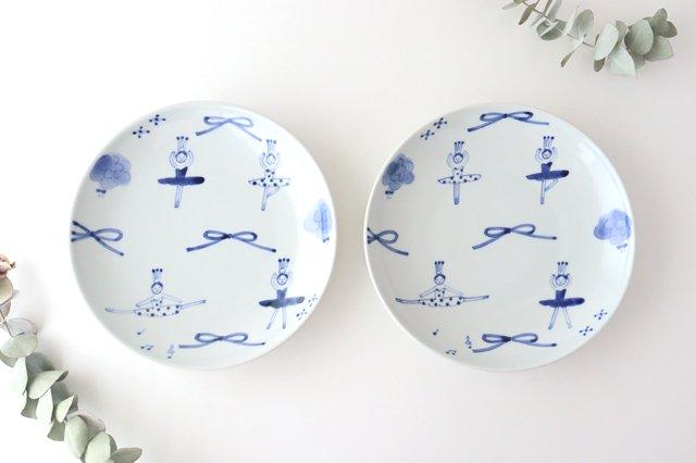 7寸皿 バレリーナ 磁器 森陶房 砥部焼 画像6