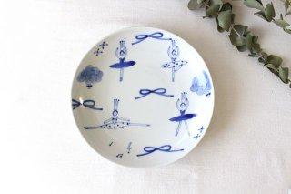7寸皿 バレリーナ 磁器 森陶房 砥部焼商品画像