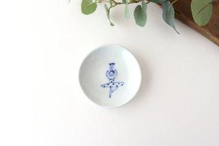 丸小皿 バレリーナ パッセ 水玉 磁器 森陶房 砥部焼商品画像