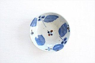たたら作り小鉢 ブルー木の葉 半磁器 森陶房商品画像