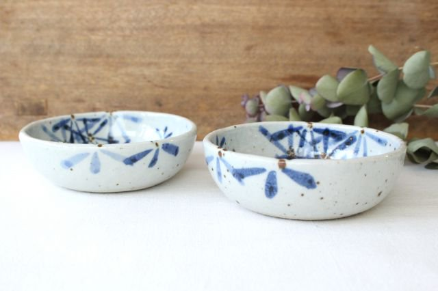 たたら作り小鉢 ガーベラ 半磁器 森陶房 砥部焼 画像2