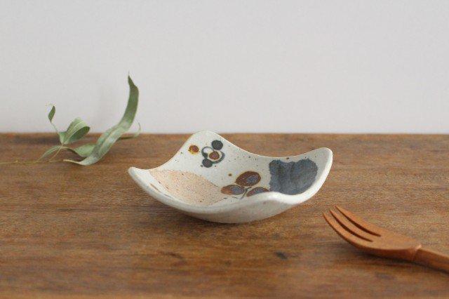 角小皿 木の葉 半磁器 森陶房 砥部焼