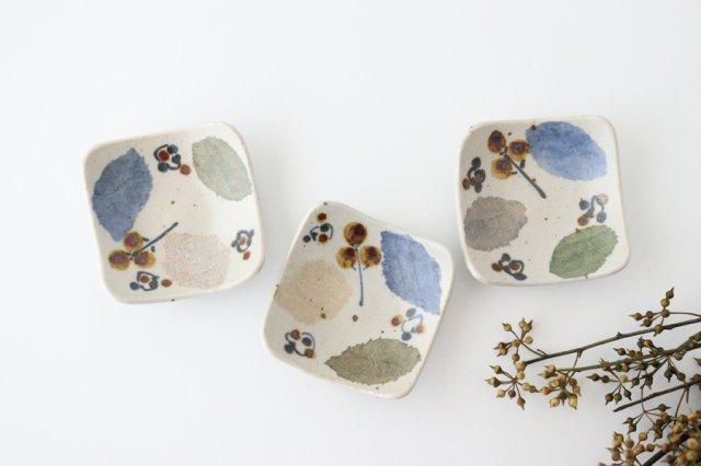 角小皿 木の葉 半磁器 森陶房 砥部焼 画像2