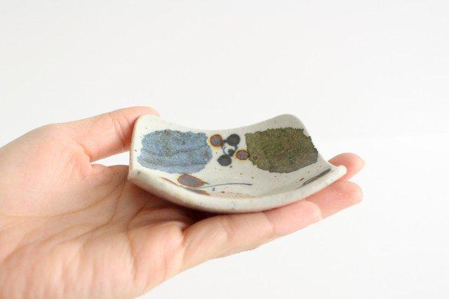 角小皿 木の葉 半磁器 森陶房 砥部焼 画像4