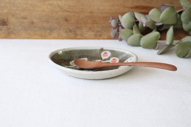 楕円小皿 青い鳥 半磁器 森陶房 砥部焼 画像5