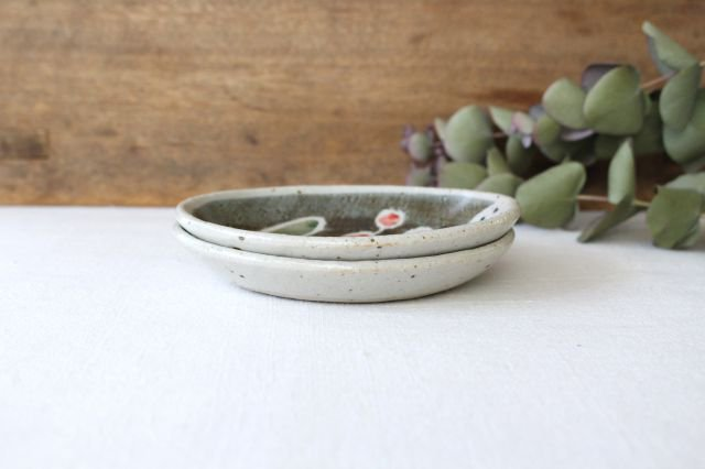 楕円小皿 青い鳥 半磁器 森陶房 砥部焼 画像6