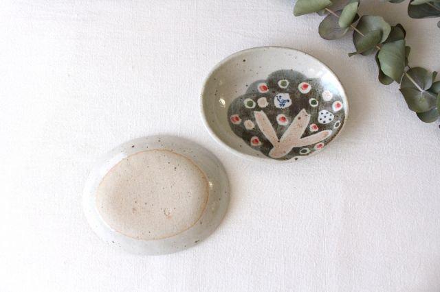 楕円小皿 小さな森 半磁器 森陶房 砥部焼 画像2