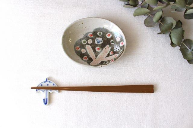 楕円小皿 小さな森 半磁器 森陶房 砥部焼 画像5