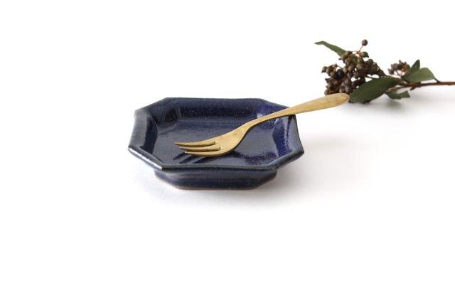 隅入小皿 瑠璃釉 陶器 寺村光輔 画像2