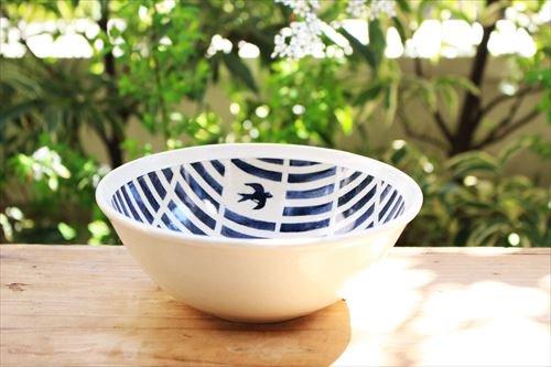 ブルーラインツバメサラダボウル 陶器 東峯未央商品画像
