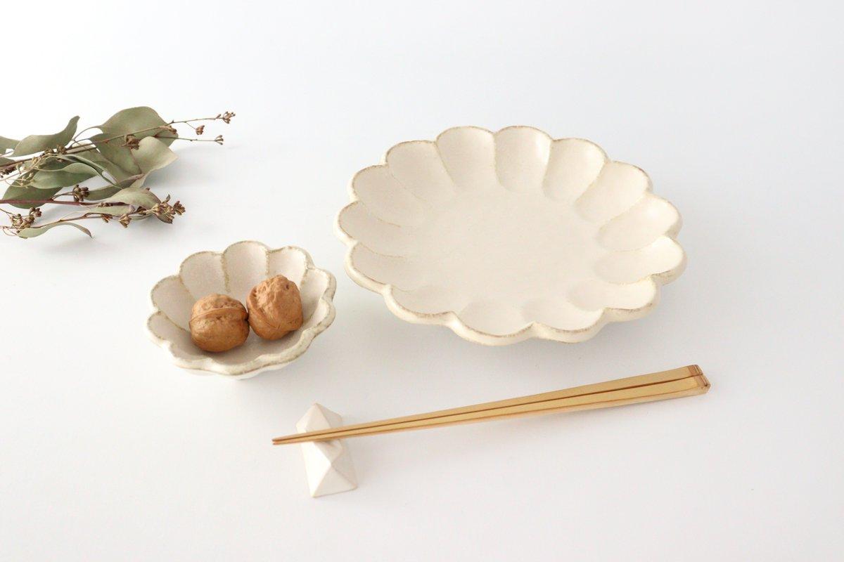 美濃焼 菊花 7寸皿 白 磁器 画像2