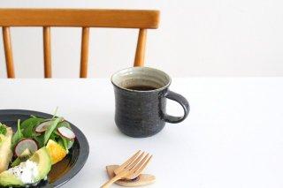 黒×粉引 マグカップ 小 陶器 庄司理恵商品画像