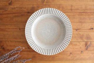 7寸リム皿 墨入貫入 陶器 はなクラフト商品画像