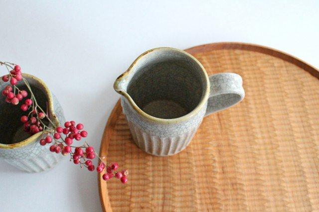 ピッチャー 小 墨入貫入 陶器 はなクラフト 画像2