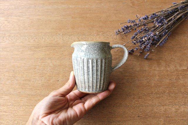 ピッチャー 小 墨入貫入 陶器 はなクラフト 画像4