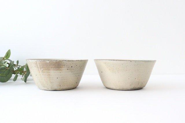 ボウル5寸 白 陶器 寺田昭洋 画像2
