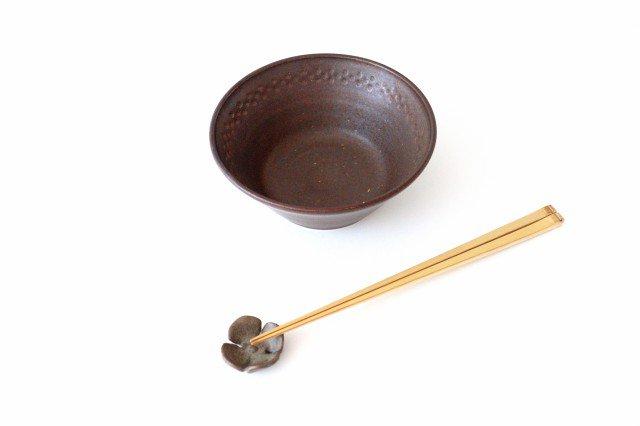 ダークブラウン鎬 5寸鉢 陶器 中野明彦 画像3