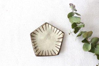 美濃焼 古染 五角小皿 十草 陶器商品画像