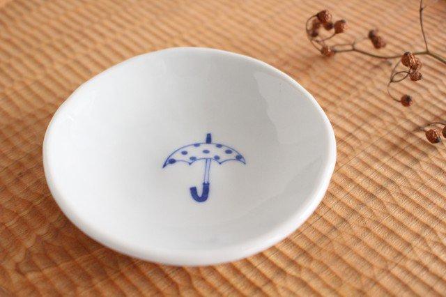 丸小皿 傘ドット 磁器 森陶房 砥部焼 画像4
