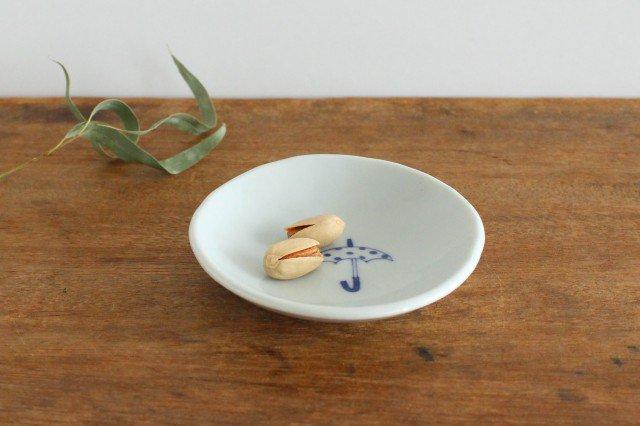 丸小皿 傘ドット 磁器 森陶房 砥部焼 画像5