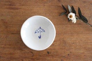 丸小皿 傘ドット 磁器 森陶房商品画像