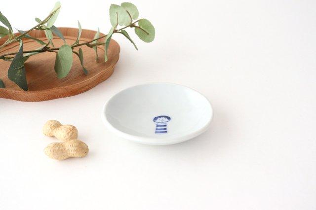 丸小皿 こけし しましま 磁器 森陶房 砥部焼