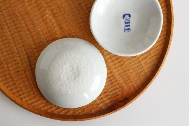 丸小皿 こけし しましま 磁器 森陶房 砥部焼 画像2