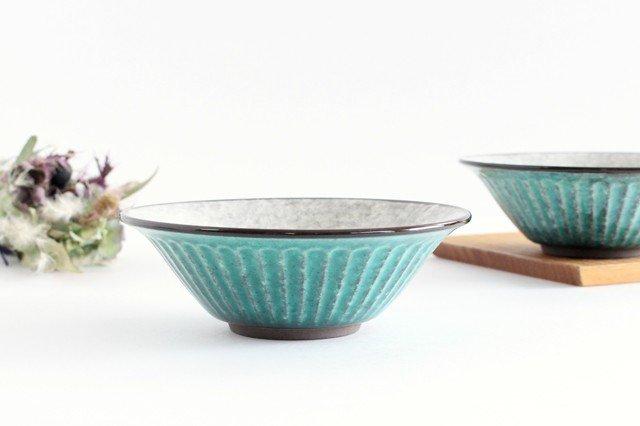 美濃焼 サラダボウル トルコブルー 陶器