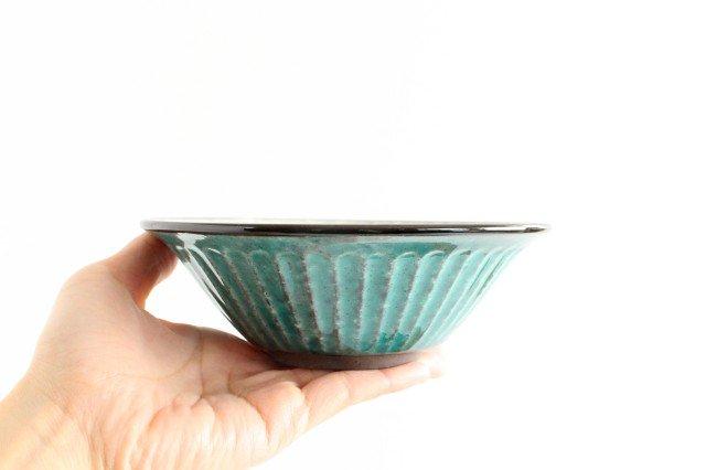美濃焼 サラダボウル トルコブルー 陶器 画像2