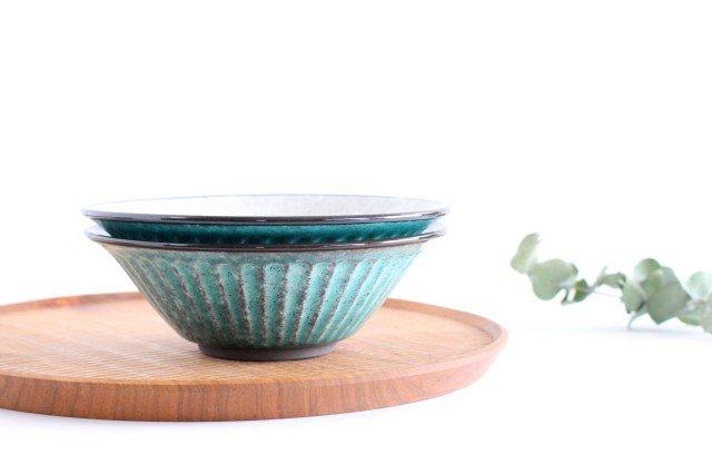 美濃焼 サラダボウル トルコブルー 陶器 画像5