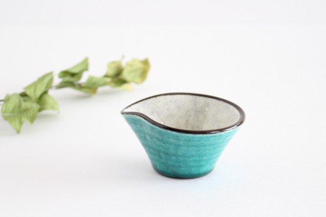 ドレッシングカップ トルコブルー 陶器 美濃焼