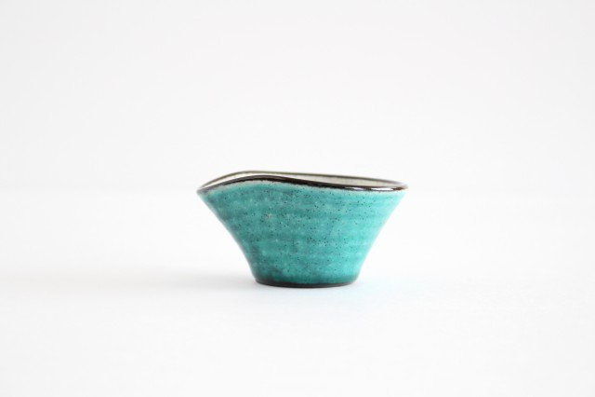 ドレッシングカップ トルコブルー 陶器 美濃焼  画像3
