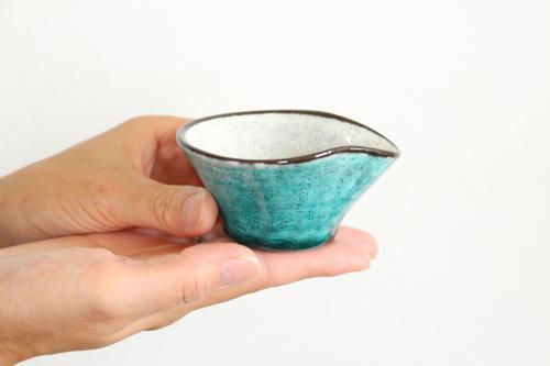ドレッシングカップ トルコブルー 陶器 美濃焼  画像4