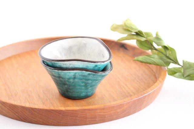 ドレッシングカップ トルコブルー 陶器 美濃焼  画像5